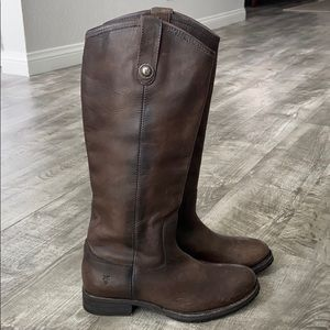 Frye Melissa Button Lug Tall Boots